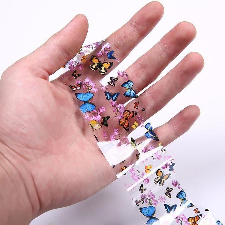 Nail Art Transferfolien Nagel Sticker Tip Decal Dekoration