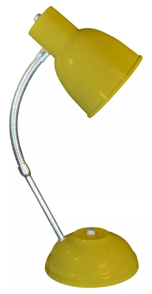 L mpara escritorio velador goliat metalizada amarilla for Casa amarilla instrumentos