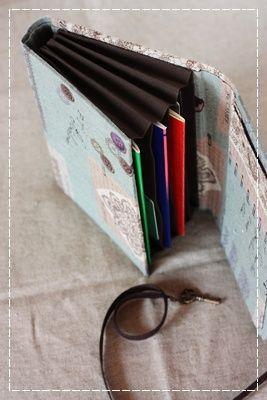 カルトナージュで通帳ケース : ちいさなしあわせ  Atelier Créer Diary*