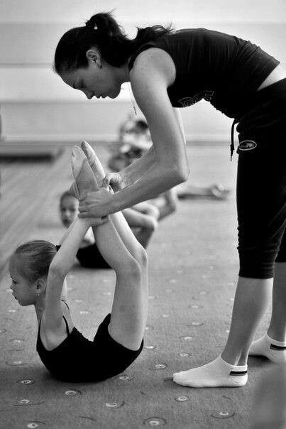 """Rhythmic gymnastics training...I'd be all, """"Please, stop doing that to my daughter. """""""