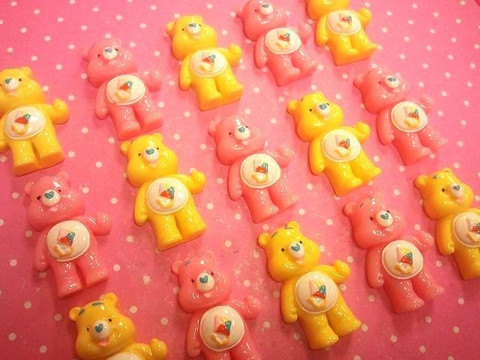 4 Piece Care Bears Kawaii Decoden. $4.98, via Etsy.: Kawaii Decoden, Bears Kawaii, Care Bears, Pieces Care