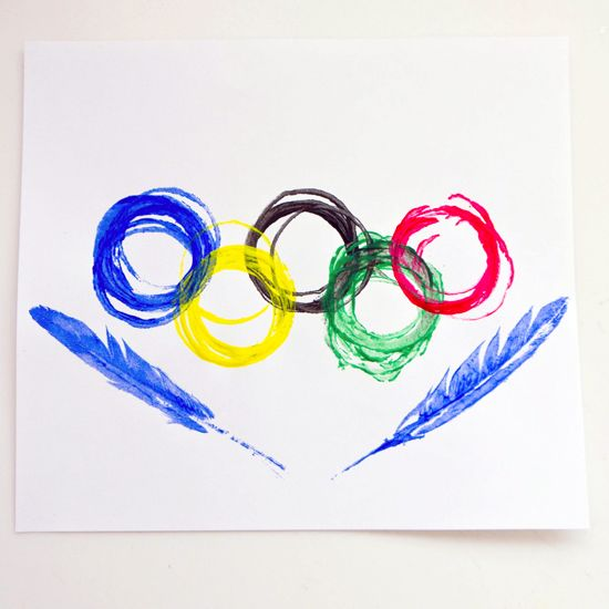 Circle Stamps — An Olympic Craft For the Opening Ceremonies!!!!