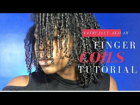 Defined Finger Coils   Natural Hair - YouTube