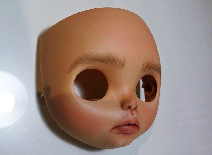 #blythe #customblythe #custom #faceplate #wip #doll #face #tan