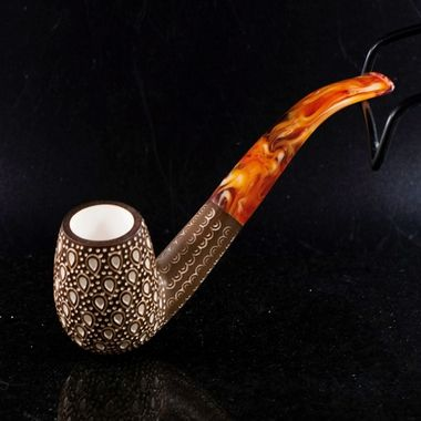 Meerschaum Estate Finish Lattice Billiard Pipe