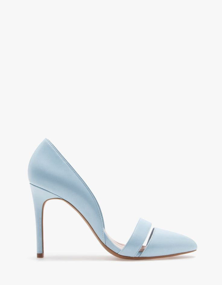 High heel cut-out court shoes