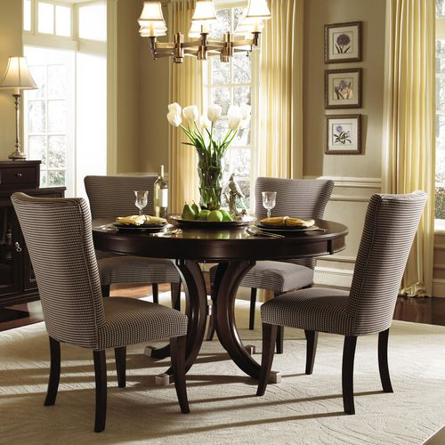 Dining Room Table With Chairs And Bench: Alston Round Pedestal Dining Table & Chairs By Kincaid 54