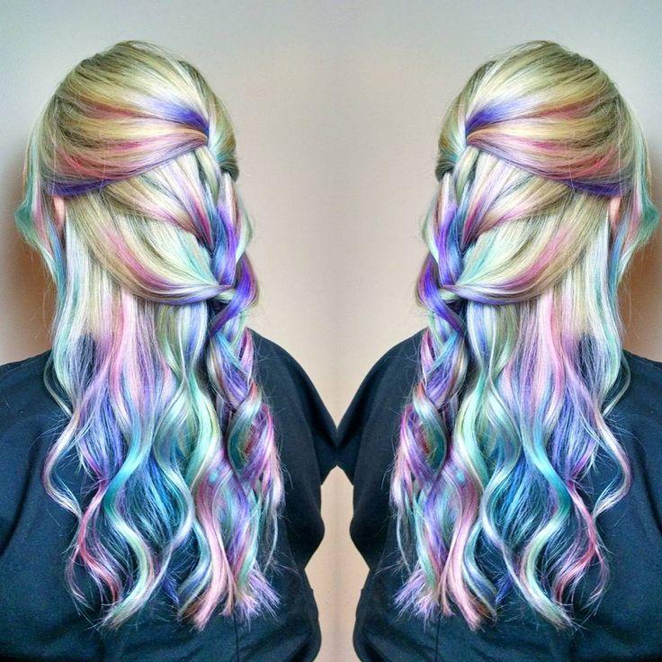 pastel opal hair