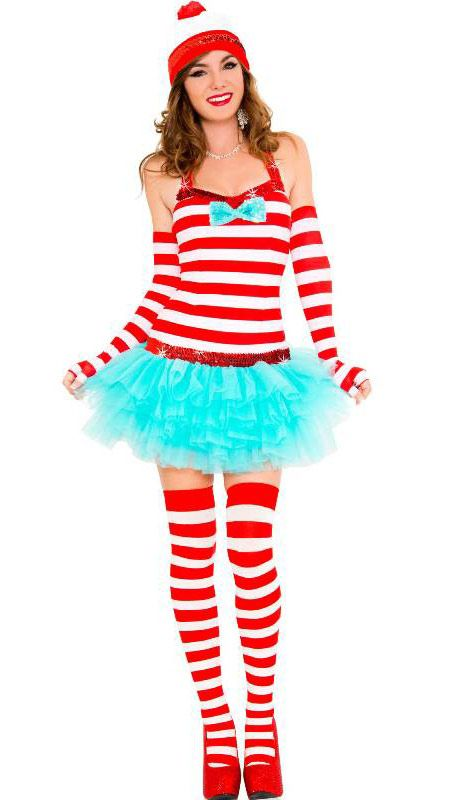 This women's where's Wally costume is perfect to play hide and seek!  Check out this costume on our website http://www.heavencostumes.com.au/adventurous-traveler-sexy-women-s-costume.html