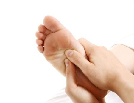 Tip: Rub your feet to ease your stomach