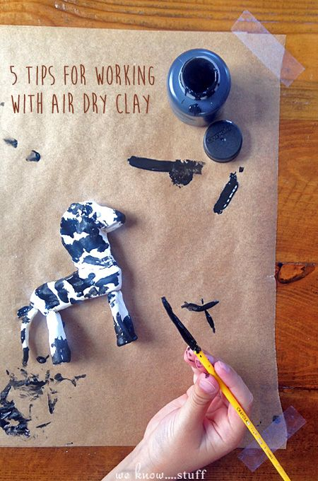Our kids love using air dry clay for crafts. Here are 5 tips to help you before you start your next project.