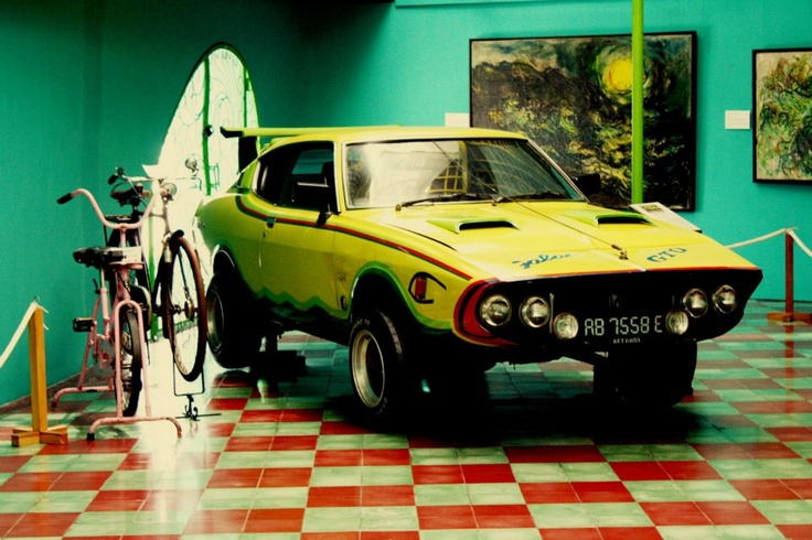 Affandi's favorite fish-shaped car