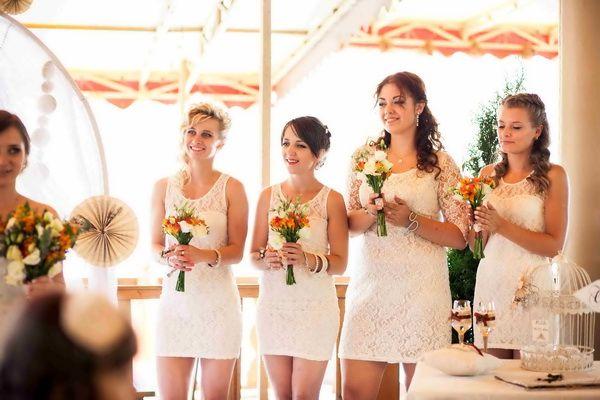 подружки невесты в одинаковых платьях #wedding #bridesmaids