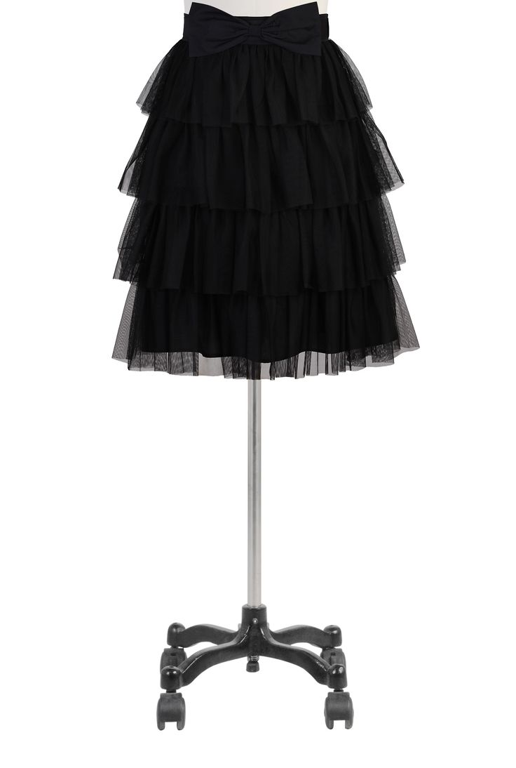 Tiered Tulle Skirts, Black Mesh Underskirts Women's designer fashion - Women's Skirts, Dress Skirts, Casual Skirts, Long Skirts - | eShakti....