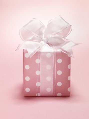 Pink polka dot: Pink Polka Dots, Wrapping Paper, Things Pink, Gift Wrapping, Dot Gift, Gifts, Wrapping Ideas, Polkadots