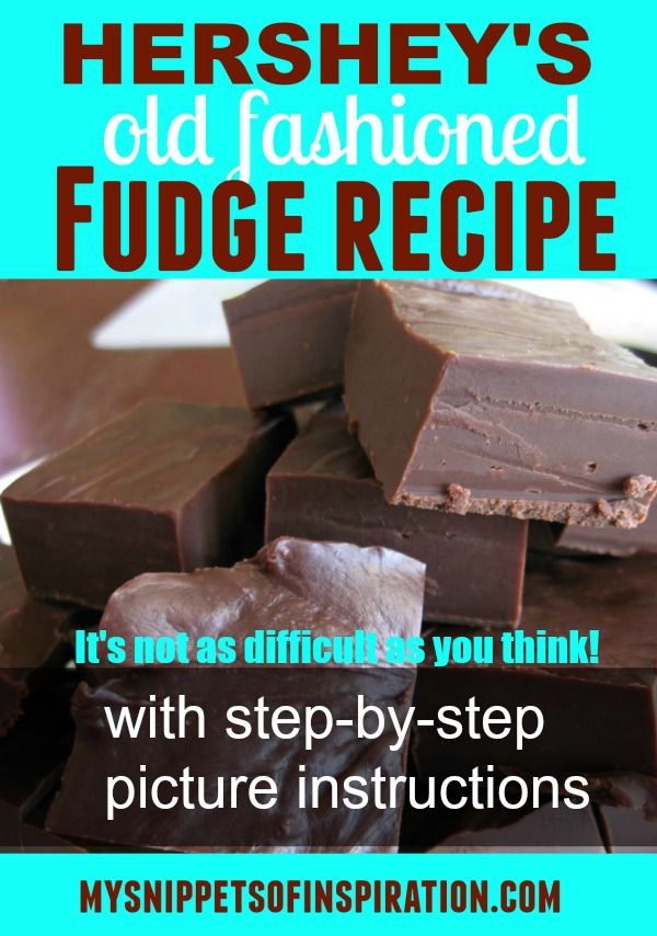 This is the BEST tasting fudge Hershey recipe you will make! It's the old 1950's recipe found on the back of the cocoa can. You're gonna love it!