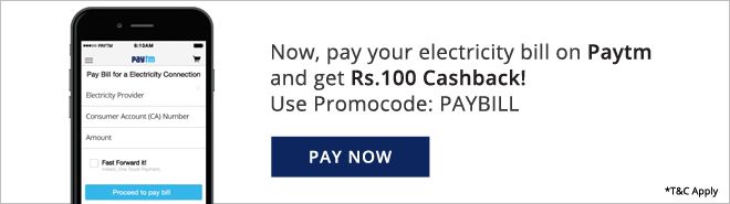 PayTM.com: Get INR100 cashback on electricity bill payment @PayTM | #Coupon: PAYBILL