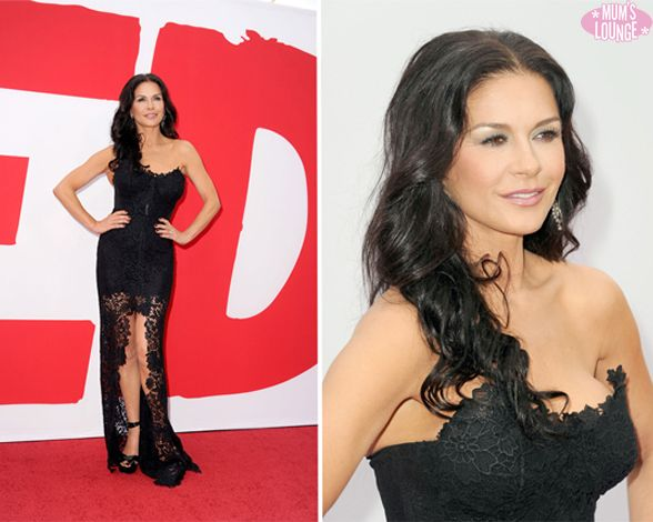 Catherine Zeta Jones walked the red carpet at the premiere of her new film Red 2 on Thursday (July 11) at the Westwood Village in Los Angeles. #celebrities