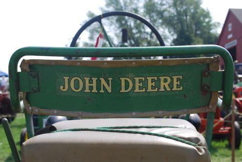John Deere Metal Tractor Seat : Best images about john deere on pinterest tractor
