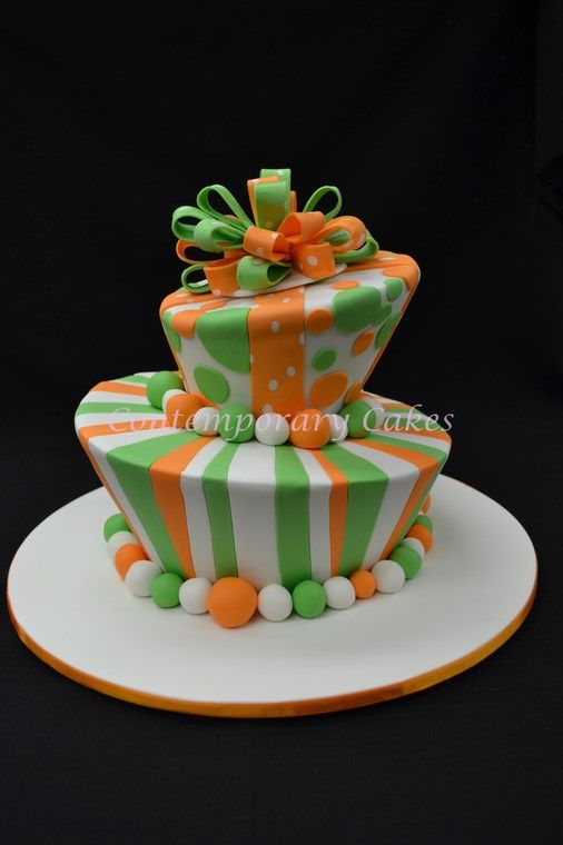 Mad hatters vibrant green and orange