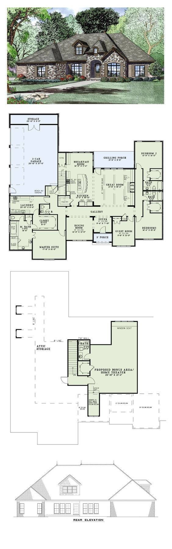 Furthermore medieval manor house on floor plans with central - My 1 Pick European House Plan 82163 Total Living Area 3415 Sq