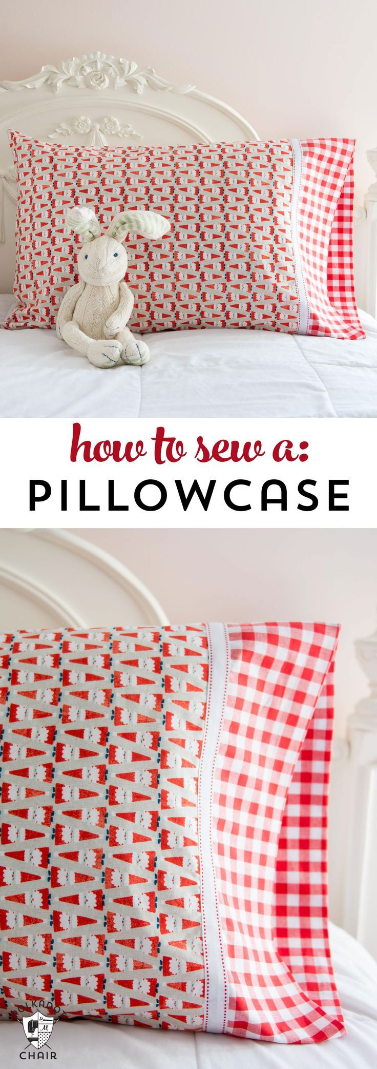 Learn a quick and easy way to sew a pillowcase on polkadotchair.com
