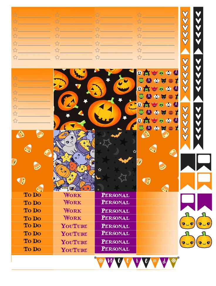 Free Printable Halloween Planners Stickers from Monica Alicia