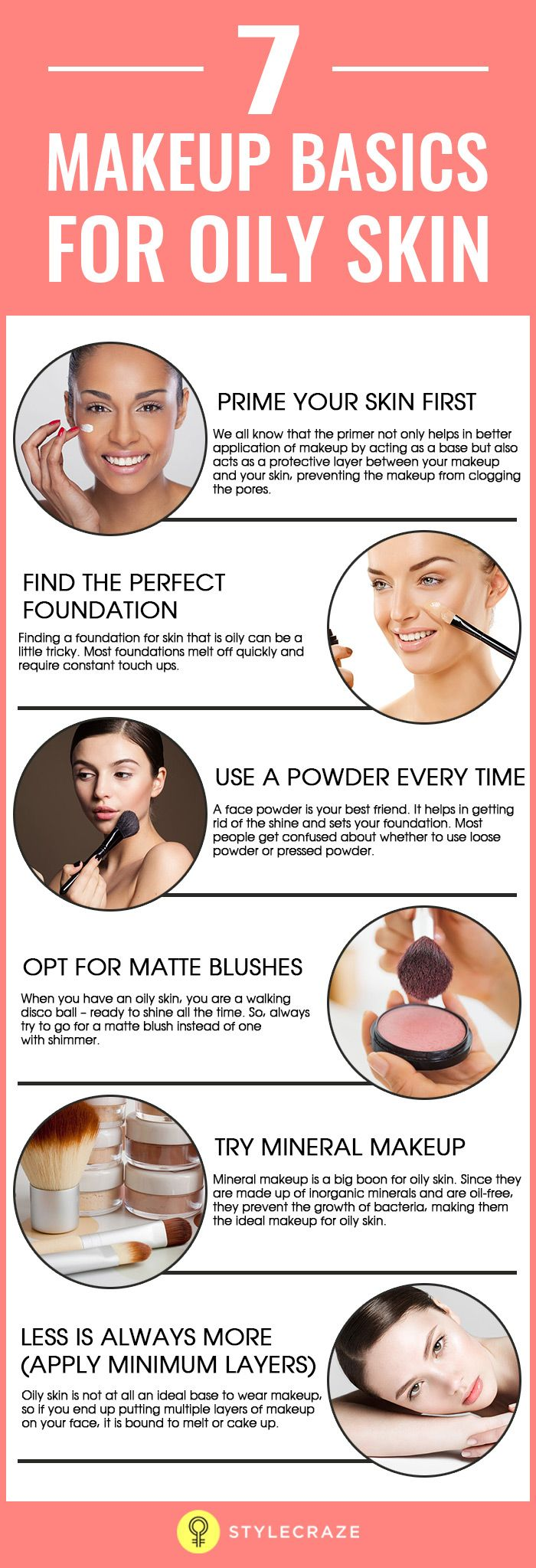 Most people with oily skin face a lot of problems when it comes to makeup. The makeup fades and melts off easily, oxidizes too soon, clogs pores, and causes a number of other skin problems. Fortunately, now we have makeup for oily skin that not only prevents the shine but also helps in controlling oil.