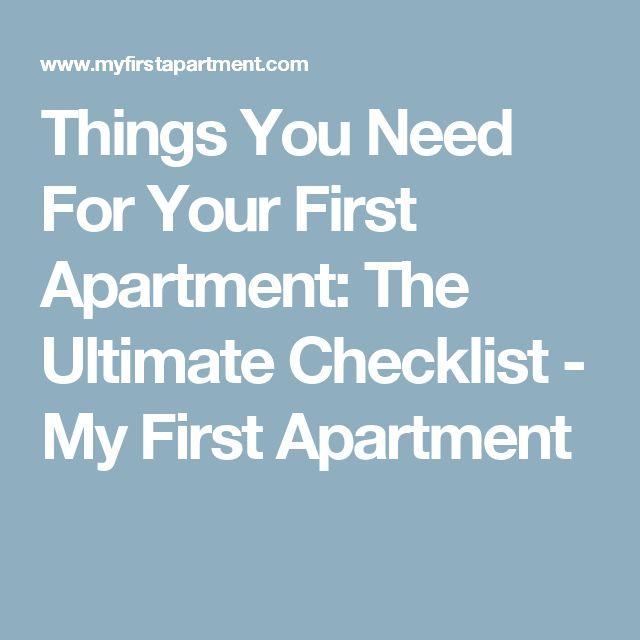 first apartment checklist pdf