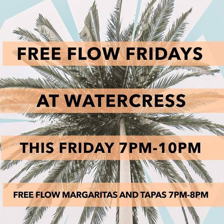 TGIF!! It's time for Free Flow Friday at @WatercressBali get your Free flow Margarita and Tapas from 7PM to 8PM today! Hurry the clock is ticking! See you there!