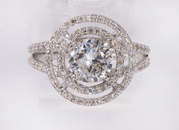 Diamond and 14k white gold ring - Price Estimate: $1400 - $1800