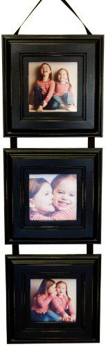 $47.99-$51.99 Baby Triple Frame, Black Collage Frame with 5x5 Openings - 3 Wood Picture Frames Connected By a Black Hanging Ribbon - Hand Distressed (Sanded) Edges, Made... - Black Triple Frame with three beautiful hand-distressed rustic frames hanging by a black ribbon. http://www.amazon.com/dp/B0039MCEBY/?tag=pin2baby-20