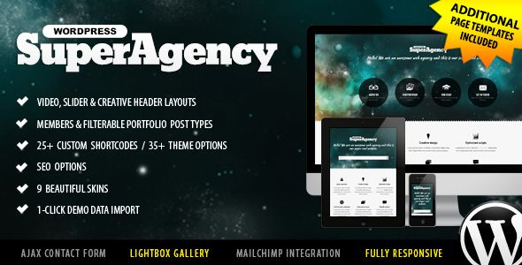 Super Agency - Responsive WordPress Theme