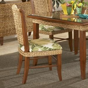 Paradise Side Chair Fabric: Dupione Bamboo · 5 Piece Dining SetDining ...