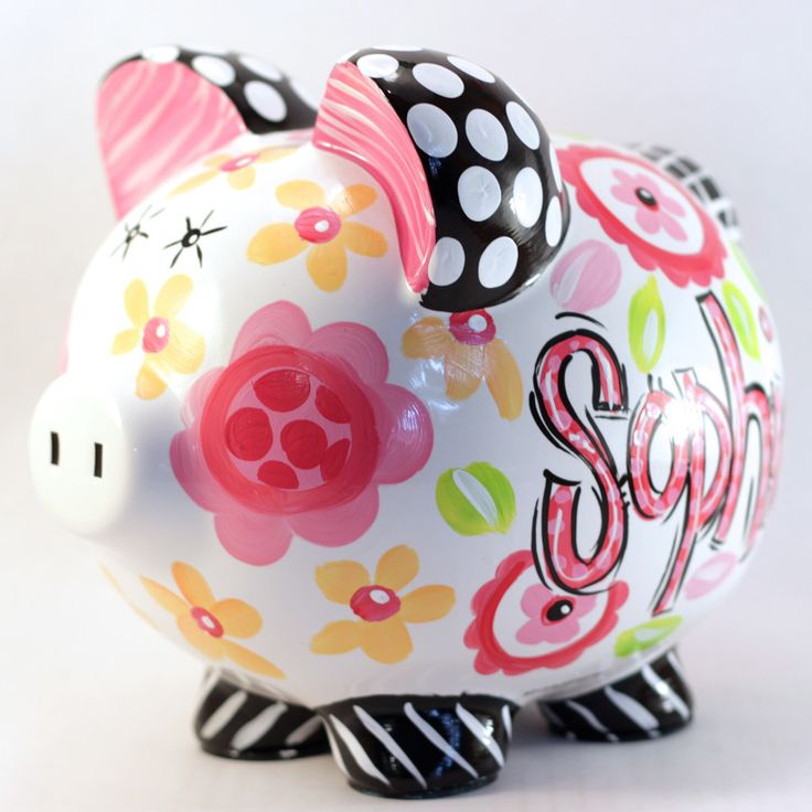 1000 ideas about dot painting on pinterest painted for How to paint a ceramic piggy bank