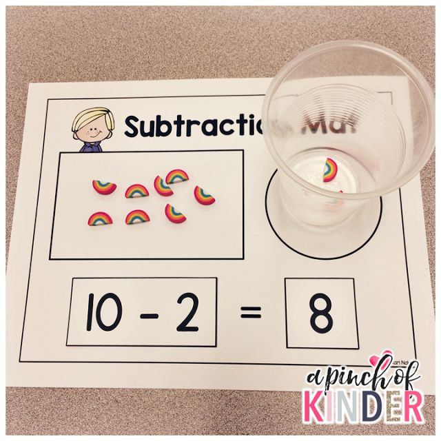 A Pinch of Kinder: Subtraction Centres - Subtraction Mat