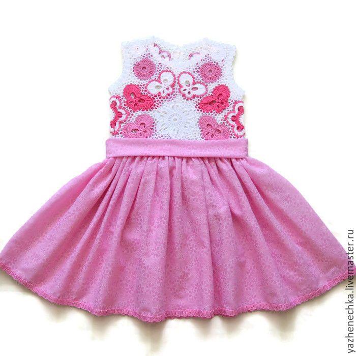 Платье из хлопка для девочки Бабочки - Женечка - Ярмарка Мастеров http://www.livemaster.ru/item/9680175-raboty-dlya-detej-plate-iz-hlopka-dlya-devochki-babochki