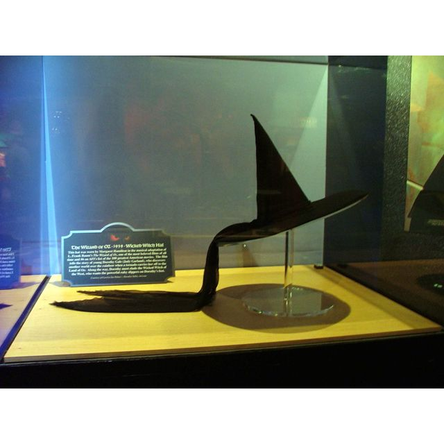 The actual hat worn by Margaret Hamilton in The Wizard of Oz movie