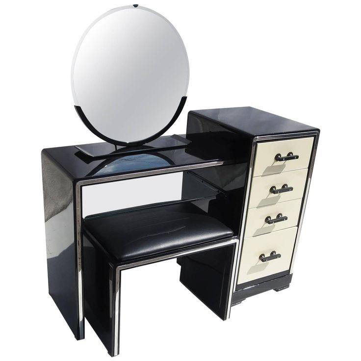 simmons modern furniture metal side table 2. norman bel geddes art deco vanity dressing table seat and mirror for simmons modern furniture metal side 2