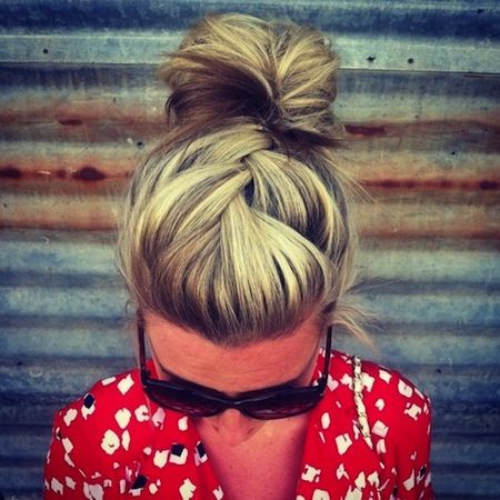 We <3 French Braids! Especially cool new takes on them like this! Use some #hothuez hair chalk to give this unique hairstyle even more flare