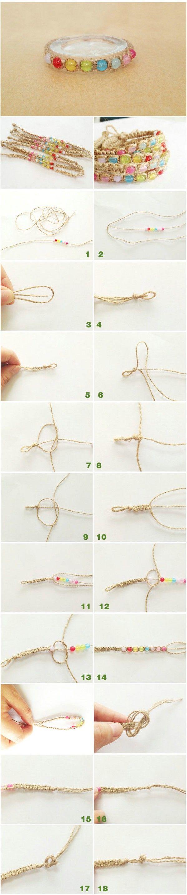 Handmade hemp Caizhu Bracelet