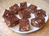 Chewy Wheat Squares Candy. Made with Shredded Wheat cereal and other goodies. Easy and fun!