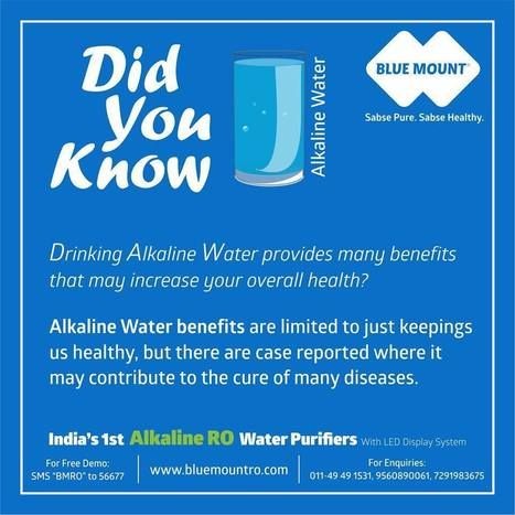 Get Alkaline RO UV/UF Purifiers Online Now. Perfect combination of Alkaline filter and RO Membrane to get pure alkaline RO water for healthy lifestyle. Call 095608 90061. http://www.bluemountro.com/