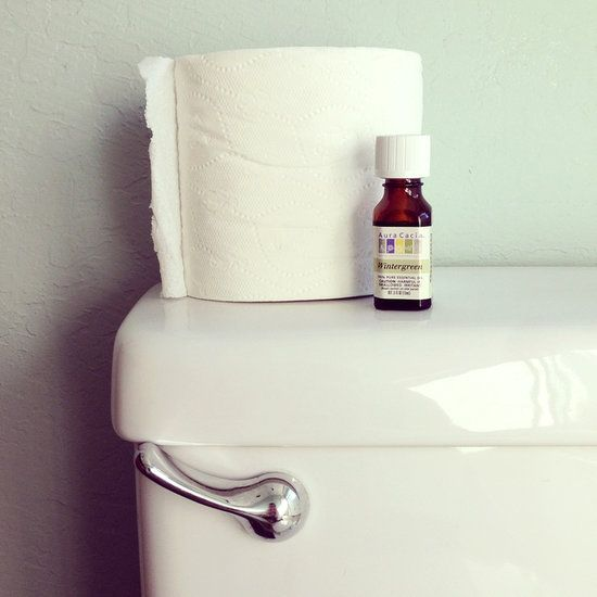 Add a few drops of essential oil (like lavender or lemongrass) to the cardboard tube in your toilet paper roll. It will automatically freshen your bathroom every time it's used!