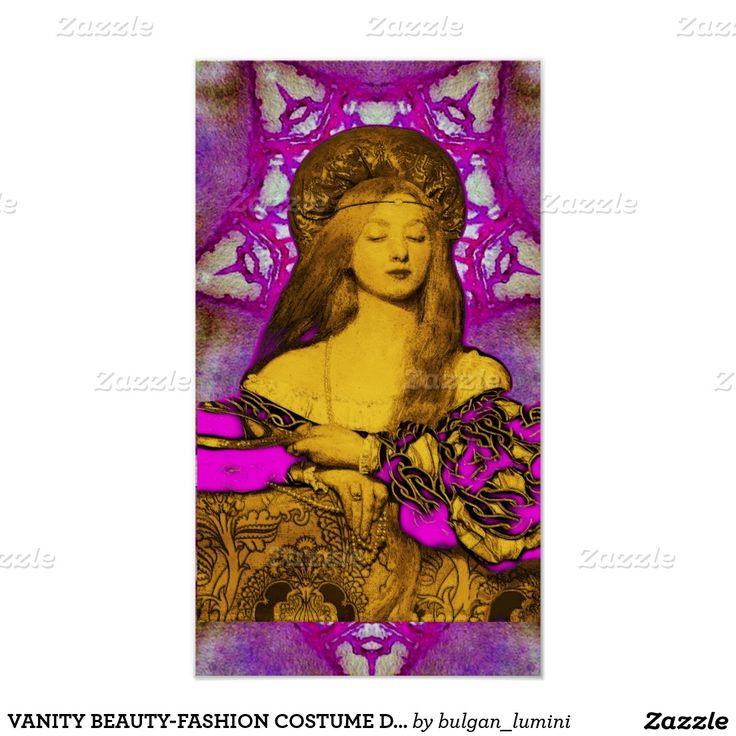 VANITY BEAUTY-FASHION COSTUME DESIGNER POSTER