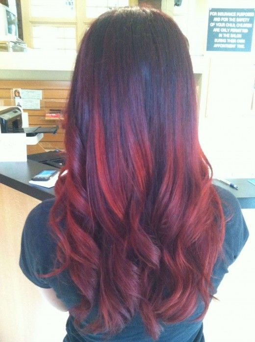 brown to red ombre