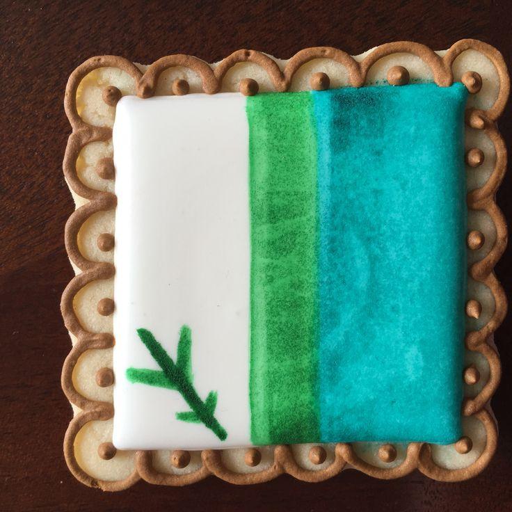 Labrador flag decorated sugar cookie