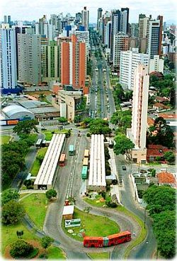 Curitiba, Brazil. Often cited as the greenest city in the world.