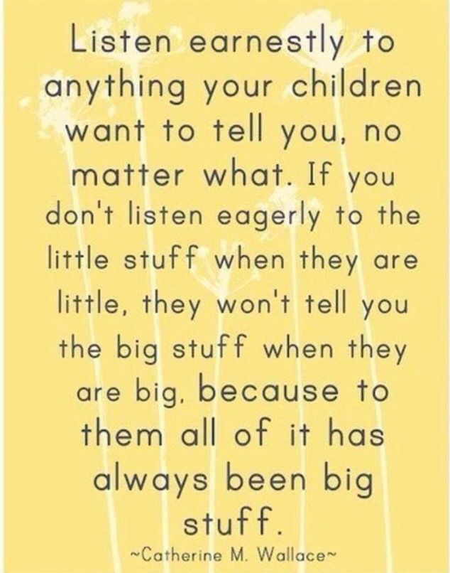 Listen to the little stuff ❤️