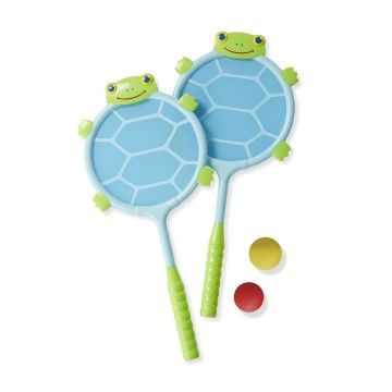 Melissa and Doug Dilly Dally Turtle Racquet and Ball Set